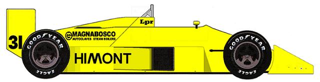Coloni FC188 Ford DFZ V8 F1 blueprints