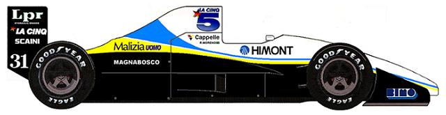Coloni FC189 Ford DFR V8 F1 blueprints