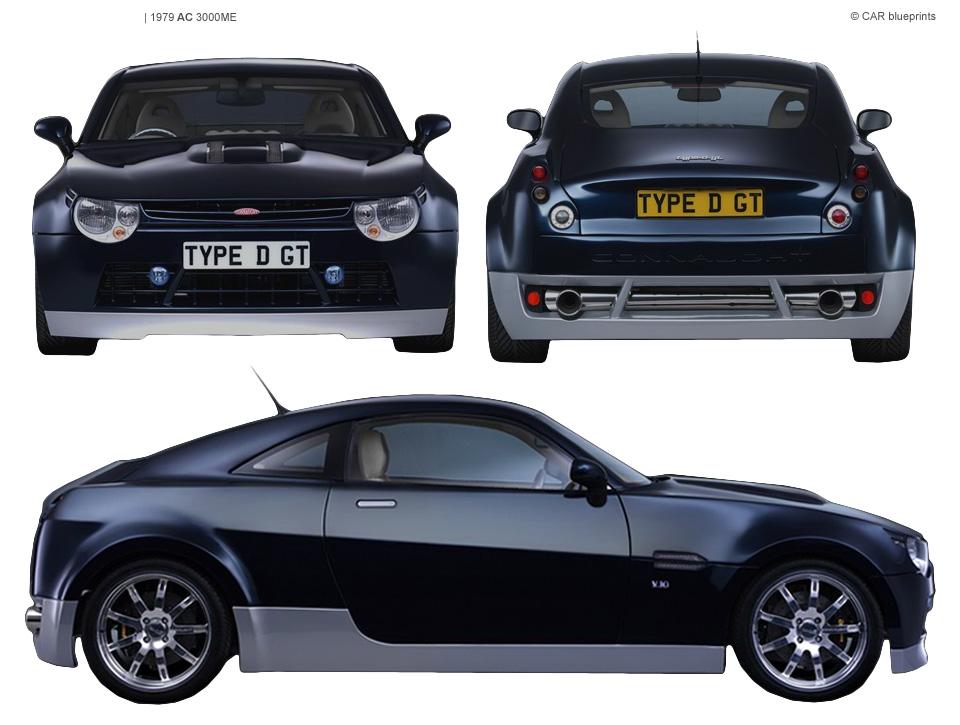 Connaught Type D GT blueprints