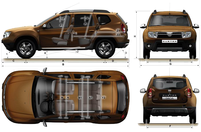Dacia Duster blueprints