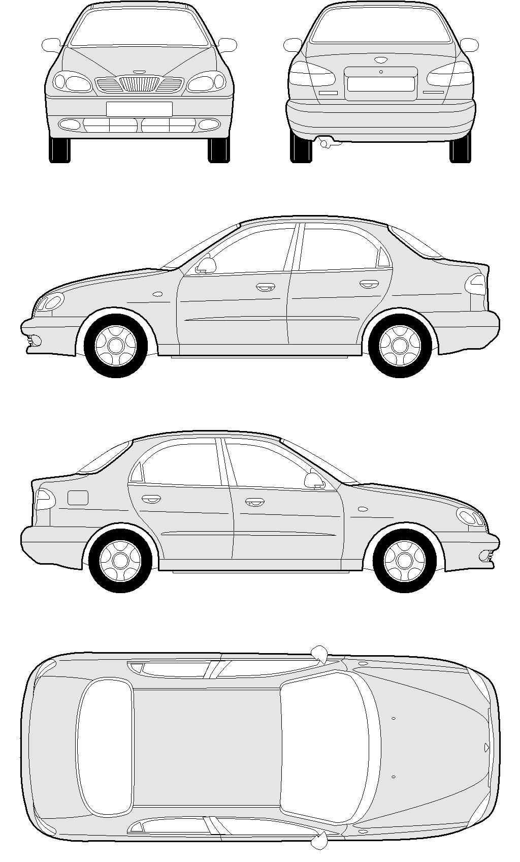 Daewoo Lanos blueprints