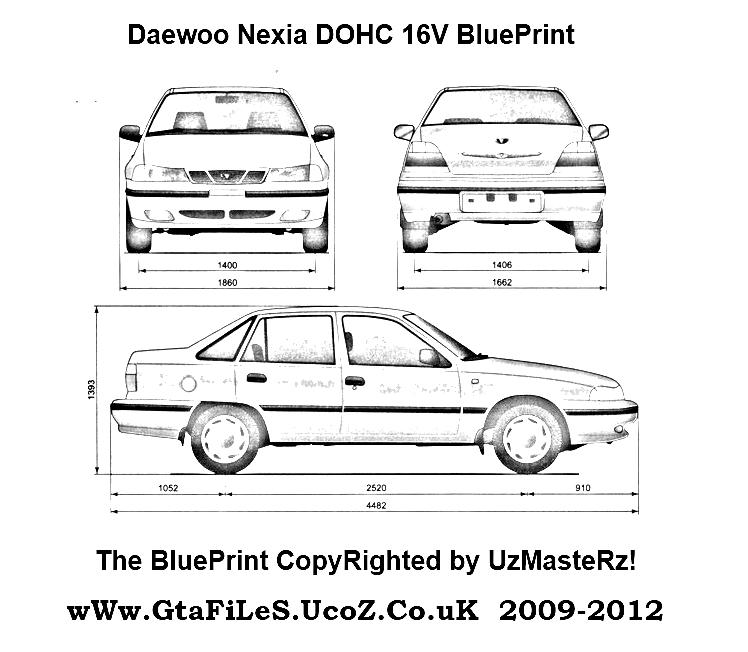 Daewoo Nexia DOHC 16V blueprints