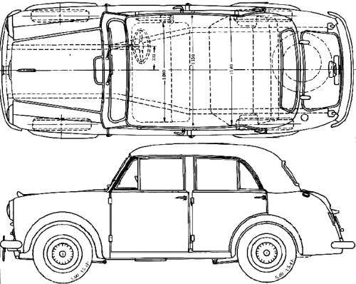1955 datsun bluebird 110 sedan blueprints free