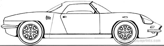 De Tomaso Vallelunga Spider blueprints