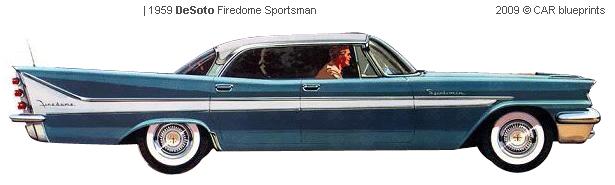 DeSoto Firedome Sportsman blueprints
