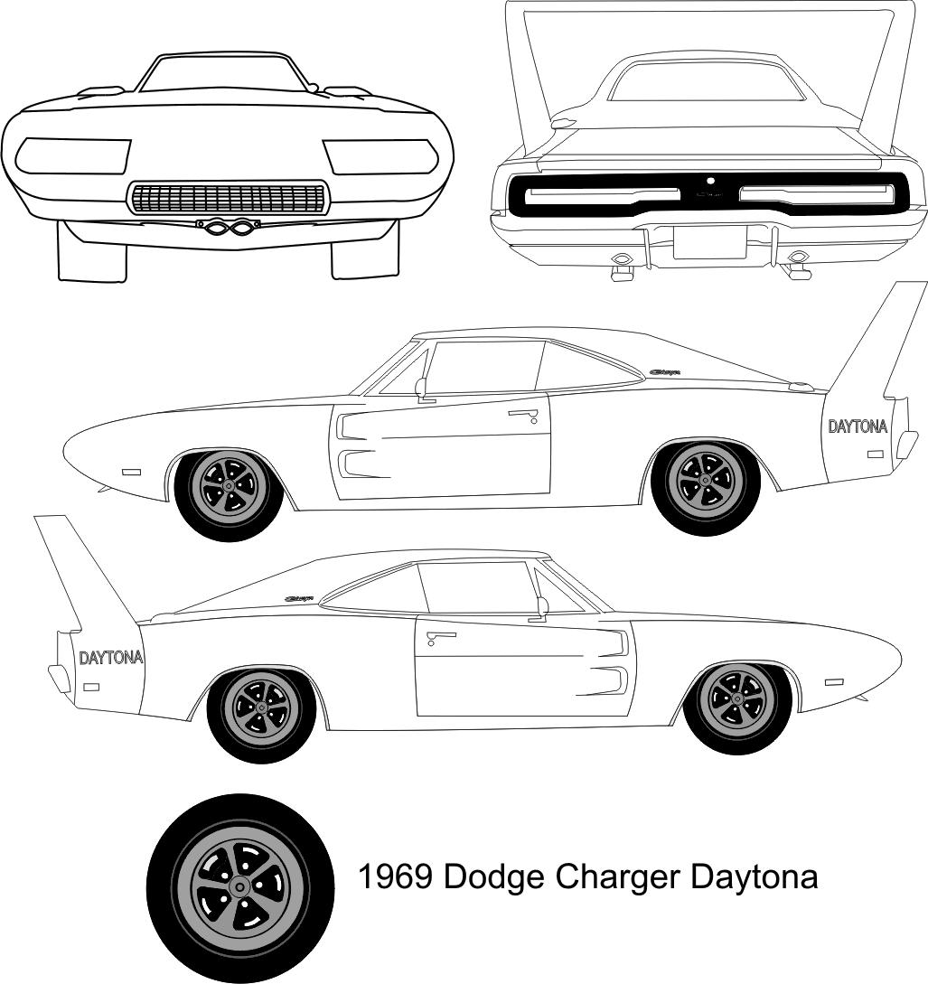 1969 dodge charger daytona coupe blueprints free