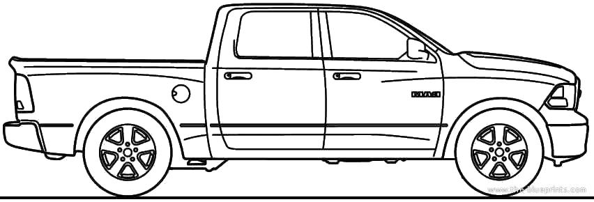 2010 dodge ram-1500 pickup truck blueprints free
