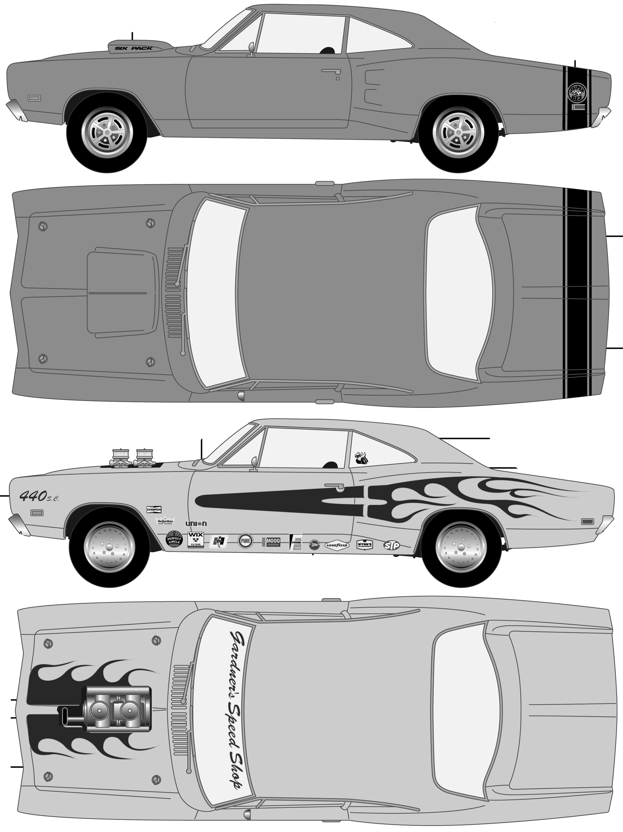 1969 dodge super bee coupe blueprints free outlines dodge super bee blueprints malvernweather Images