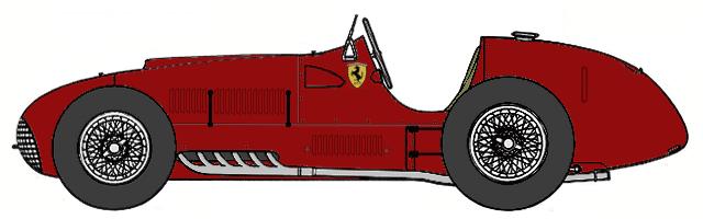 1950 Ferrari 375 F1 Formula Blueprints Free Outlines