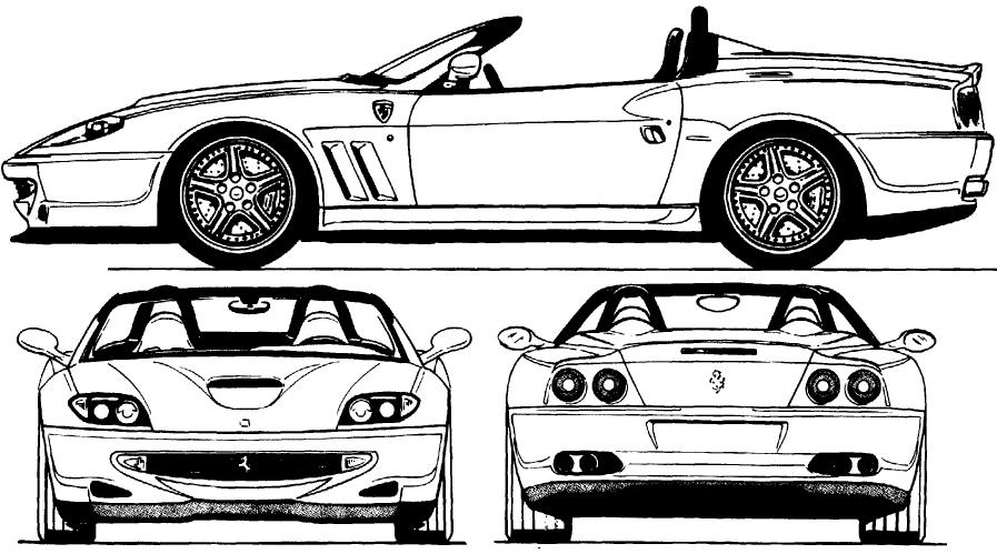 Ferrari 550 Barchetta Blueprints