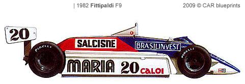 Fittipaldi F8 F1 blueprints