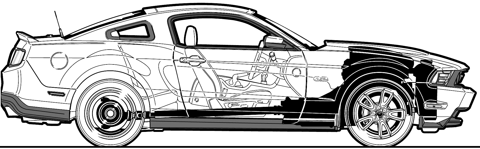 Ford Mustang GT Blueprints