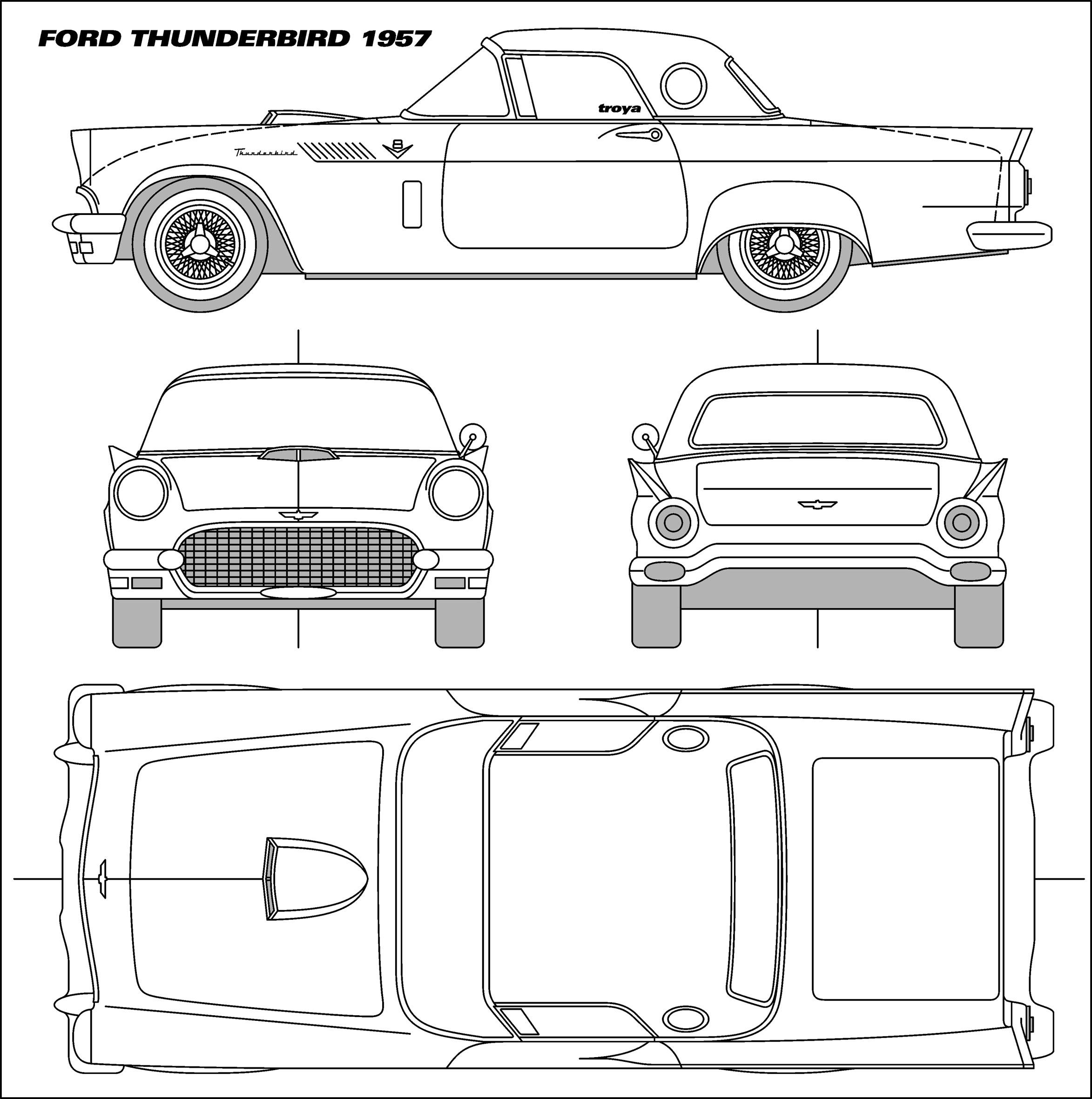 Ford Thunderbird Blueprints