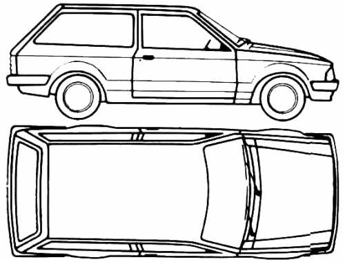 1980 ford escort mk iii estate 3 door wagon blueprints
