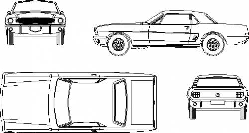 Ford Mustang Hardtop Blueprints