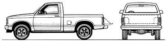 GMC S-15 Regular Cab SWB blueprints