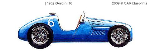 Gordini 16 F1 blueprints
