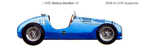 Simca Gordini 15 F1 blueprints