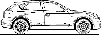 Infiniti EX37 GT blueprints