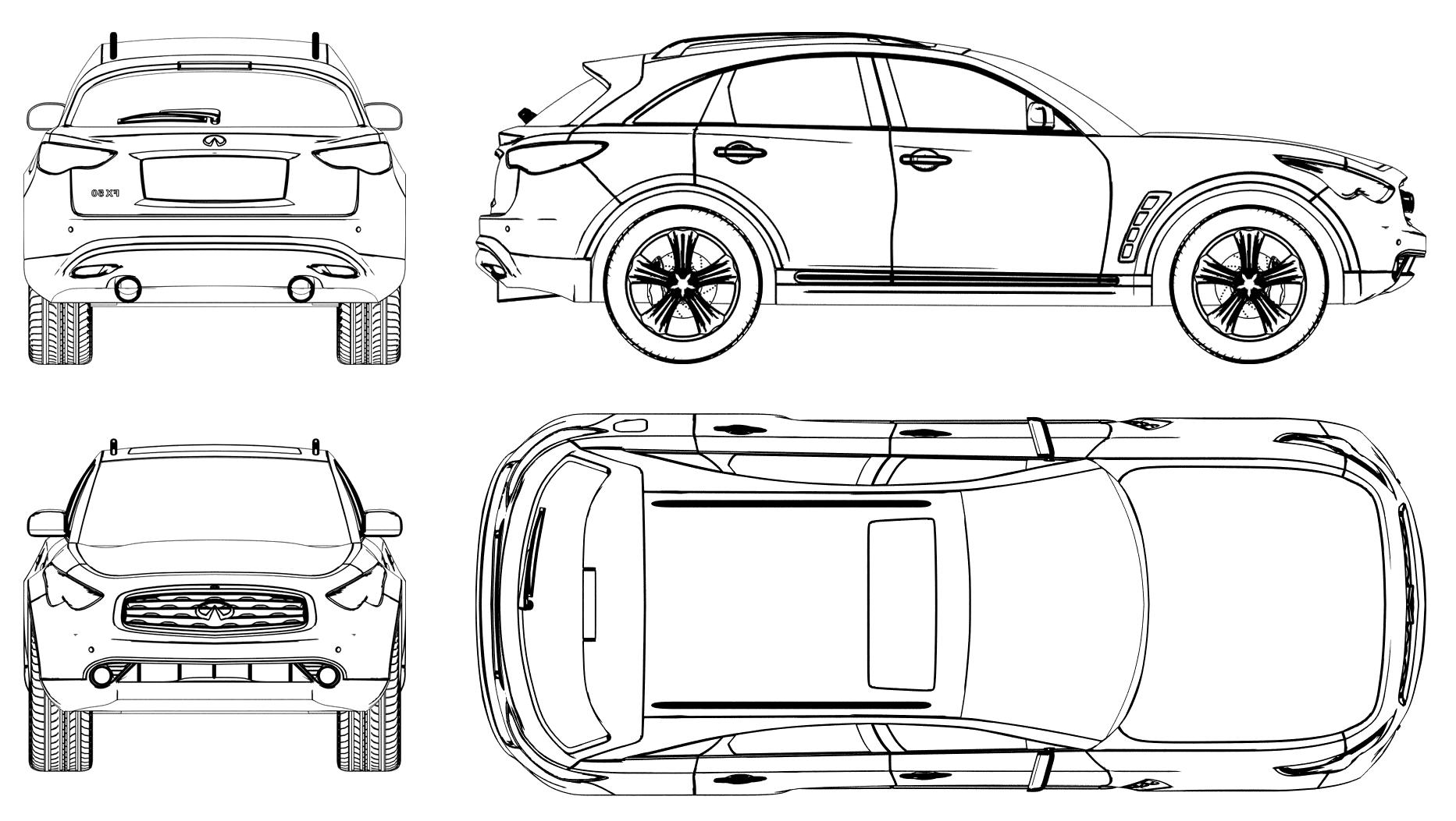 Infiniti FX blueprints