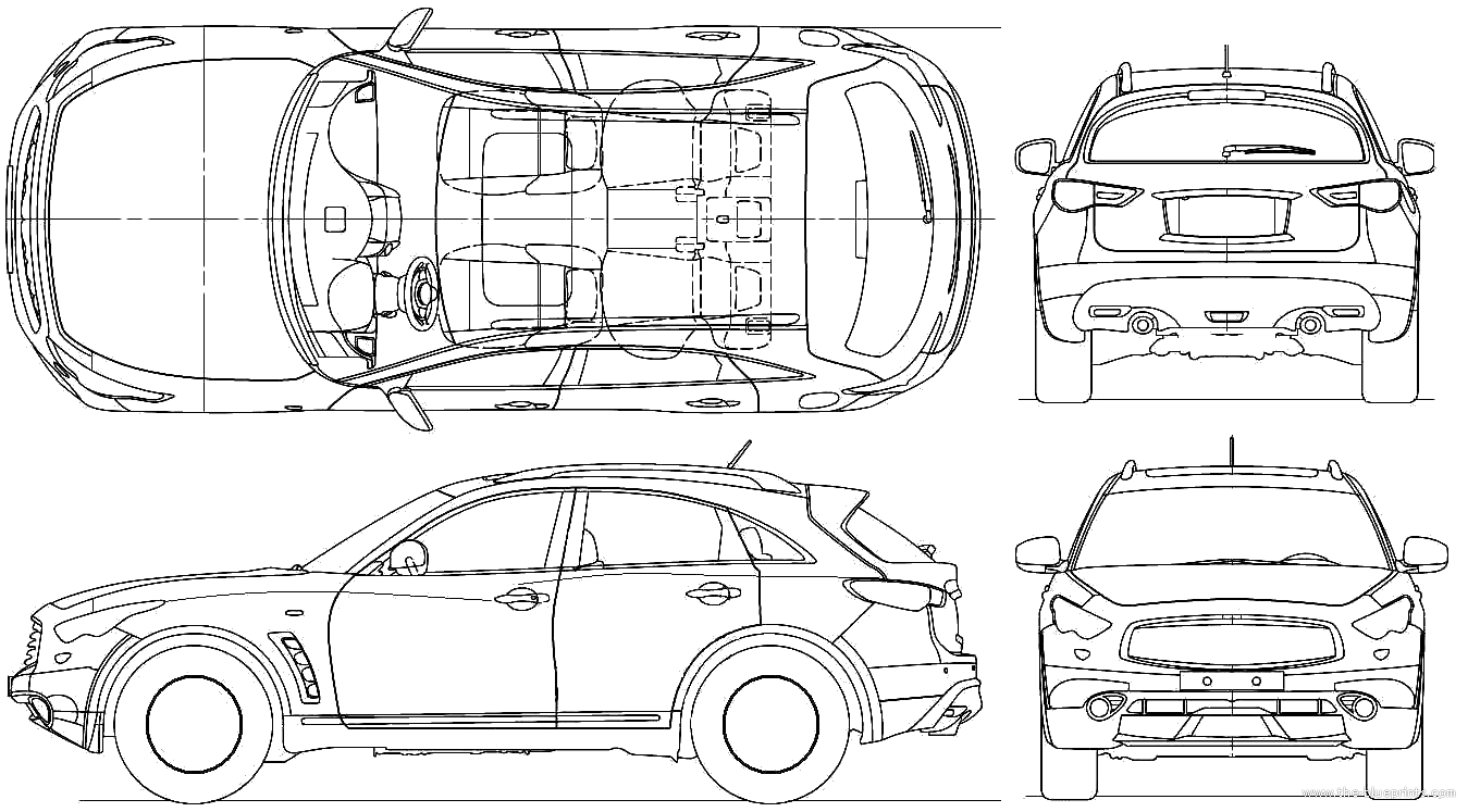 Infiniti FX50 blueprints