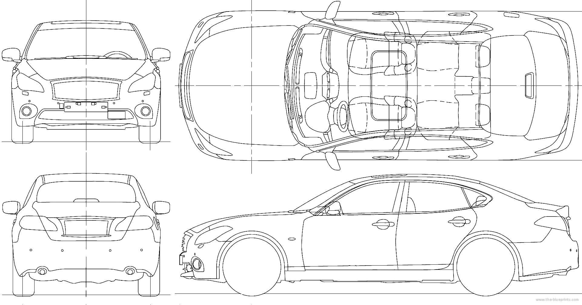 2010 infiniti m45 sedan blueprints free