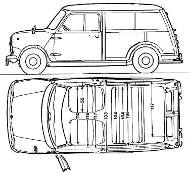 Innocenti Mini Traveller blueprints