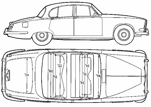 1964 jaguar 420 sedan blueprints free