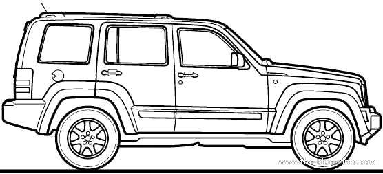 2010 jeep liberty suv blueprints free