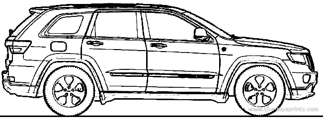 Jeep Grand Cherokee blueprints