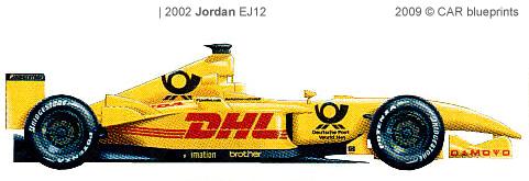 Jordan EJ12 F1 blueprints
