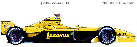 Jordan EJ14 F1 blueprints