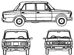 Lada 2106 1600 blueprints