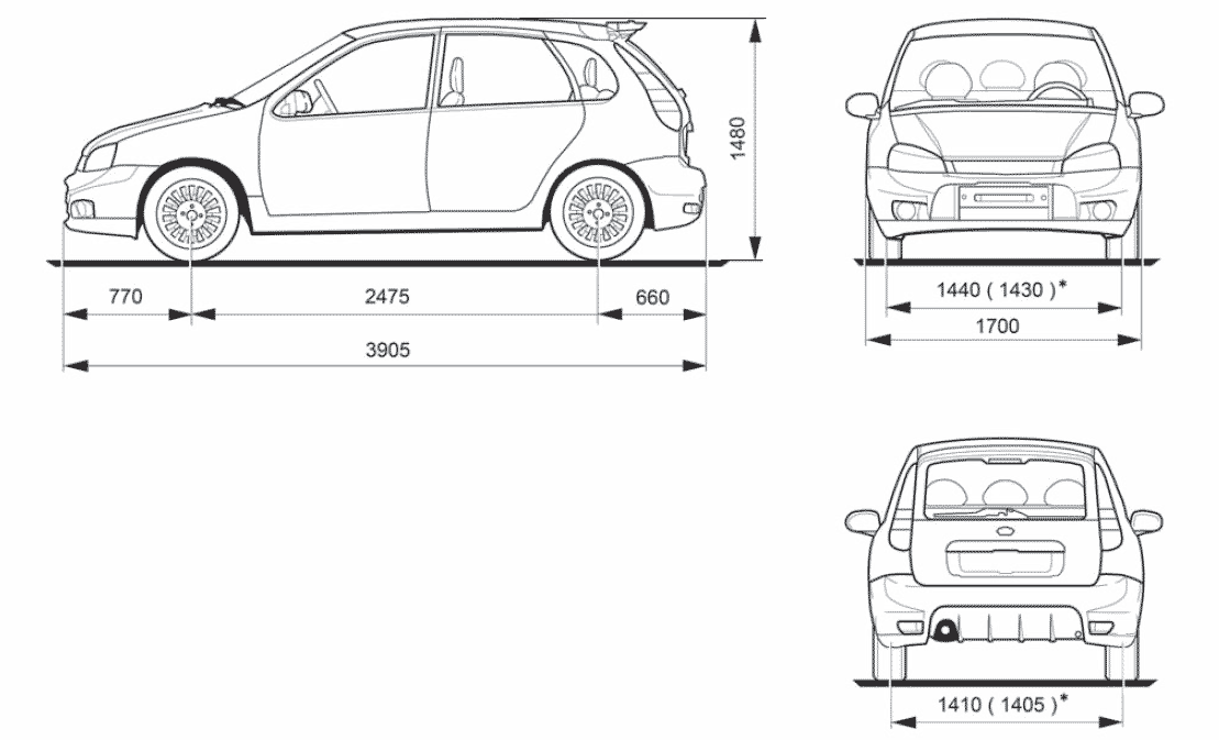2008 lada kalina 1119 sport hatchback blueprints free