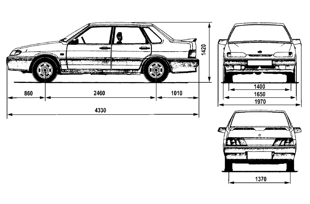 Lada Samara 2115 blueprints