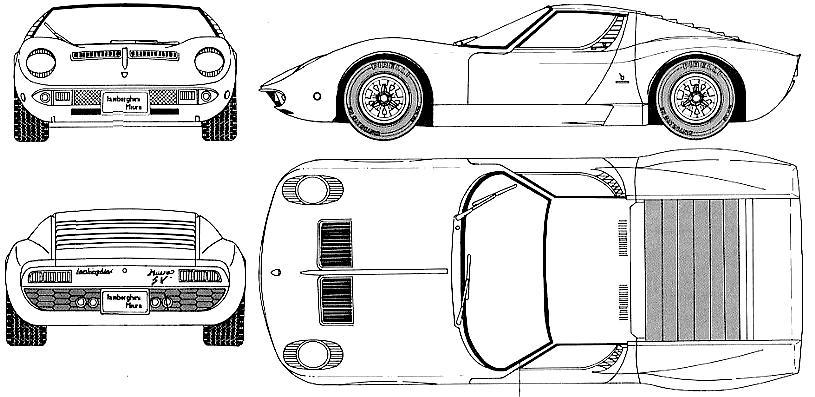 1970 lamborghini miura sv coupe blueprints free outlines lamborghini miura sv blueprints malvernweather Images