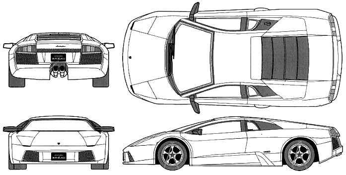 Lamborghini Murcielago blueprints