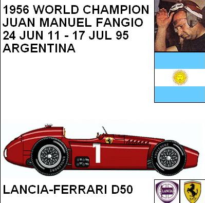 Lancia - Ferrari D50 F1 blueprints