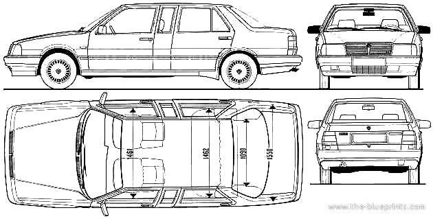 1989 lancia thema limousine blueprints free