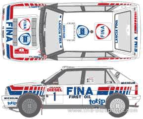 Lancia Dedra HF 16V WRC blueprints