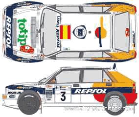 Lancia Dedra Integrale WRC blueprints