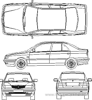 Lancia Dedra blueprints