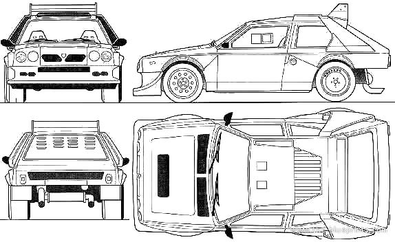 1986 lancia delta s4 hatchback blueprints free