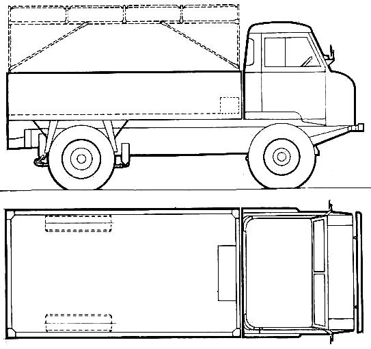 Land Rover 101 Forward Control blueprints