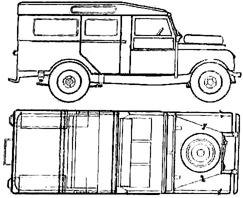 Land Rover 107 S1 blueprints