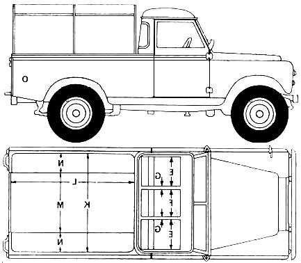 Land Rover 109 blueprints