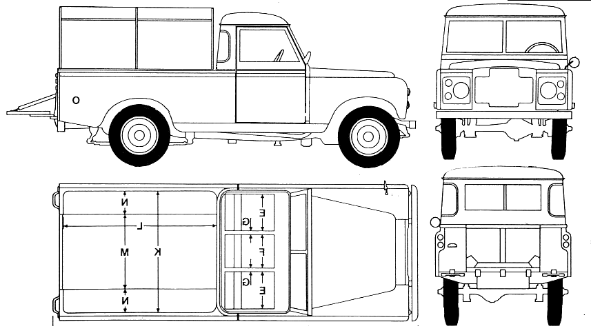 Land Rover 109 blueprints