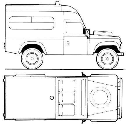 Land Rover 110 Ambulance blueprints