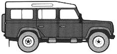 Land Rover 110 blueprints