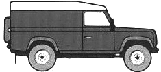 Land Rover 110 blueprints